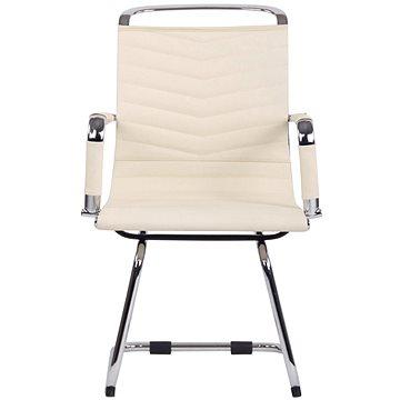 BHM Germany Burnley, pravá kůže, krémová - Konferenční židle