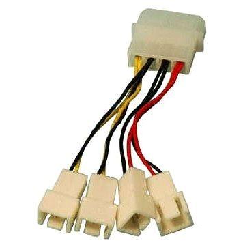 OEM 1x4pin konektor --> 2x3pin konektor 5V a 2x3pin konektor 12V - Redukce