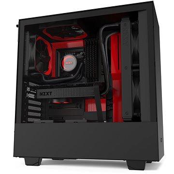 NZXT H510 Matte Black Red - Počítačová skříň