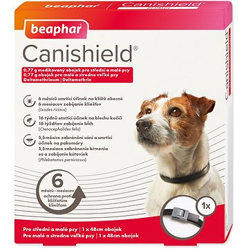 Beaphar Canishield pro malé a střední psy 48 cm - Antiparazitní obojek
