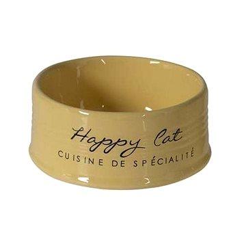 DUVO+ Happy Cat keramická miska žlutá 10,5cm 300ml - Miska pro kočky