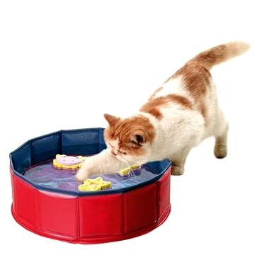 Karlie-Flamingo bazének se 3 hračkami, 30cm×10cm - Bazén pro kočky