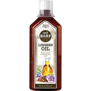 Canvit BARF Linseed Oil 0,5 l - Doplněk stravy pro psy