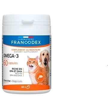 Francodex Omega 3 Capsules pes, kočka 60tab. - Doplněk stravy pro psy
