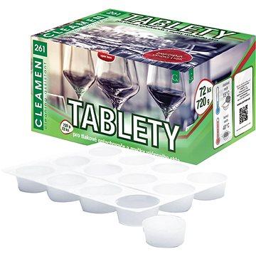 CLEAMEN 261 restaurační sklo tablety 72 ks - Prostředek na nádobí
