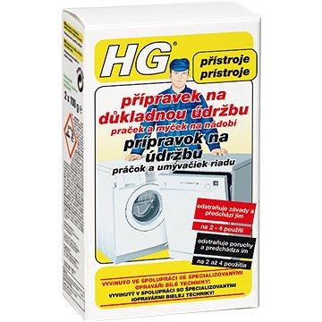 HG Přípravek na důkladnou údržbu praček a myček na nádobí 2× 100 ml - Čistič myčky
