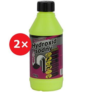 Hydroxid sodný čistič odpadů 2× 1 kg - Čisticí prostředek