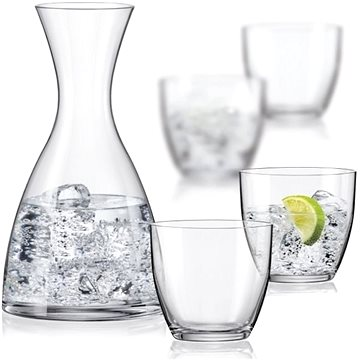 Crystalex WATER SET karafa a sklenice na vodu 5ks - Karafa