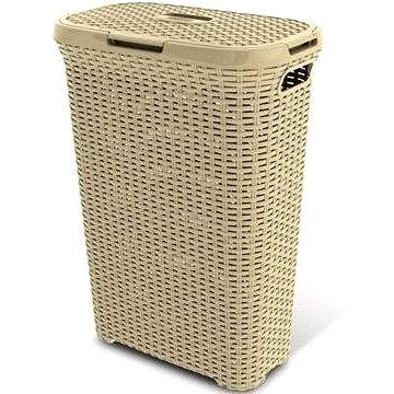 Curver Koš na špinavé prádlo 40l krémový RATTAN - Koš na prádlo