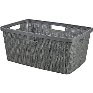 Curver Koš na čisté prádlo Jute - tmavě šedá - Koš na prádlo