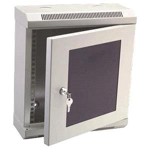 "Datacom 10"" 6U/140 mm (sklo) šedý - Rozvaděč"