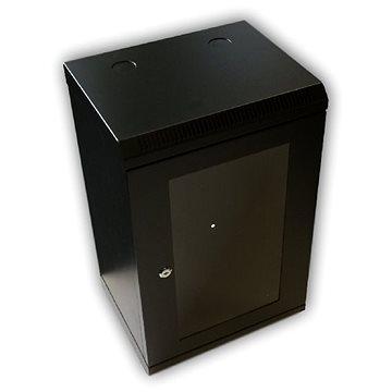 """Datacom 10"""" 9U/280 mm (sklo) černý - Rozvaděč"""