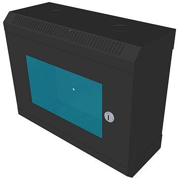 """Datacom 10"""" 6U/140 mm (sklo) černý - Rozvaděč"""