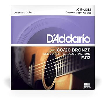 Daddario EJ13 Bronze Custom Light 11-52 - Struny