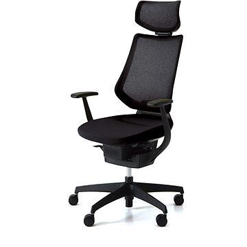 3DE ING Glider 360° s podhlavníkem - černá - Kancelářská židle