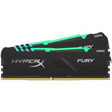 HyperX 32GB KIT DDR4 3600MHz CL18 FURY RGB series - Operační paměť