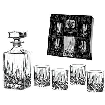 Diamante whisky set Dorchester v saténovém balení 1+4 - Sada sklenic