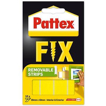 PATTEX FIX Oboustranné lepící proužky, 20× 40 mm, 10 ks - Lepicí páska