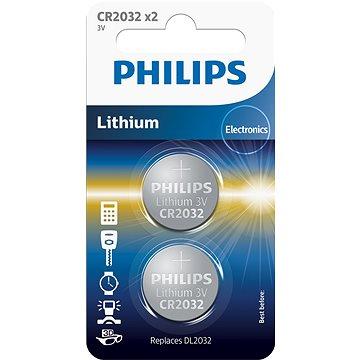 Philips CR2032P2 2ks v balení - Knoflíkové baterie