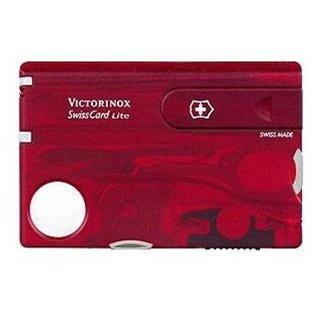 Victorinox Swiss Card Lite Translucent červený - Multitool