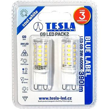 TESLA LED 3W G9 2ks 4000K - LED žárovka