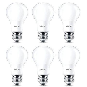 Philips LED 8-60W, E27, 2700K, matná, set 6ks - LED žárovka