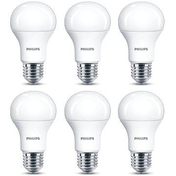 Philips LED 11-75W, E27, 2700K, matná, set 6ks - LED žárovka