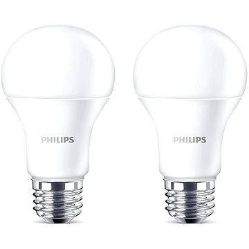 Philips LED 13-100W, E27, 2700K, matná, set 2ks - LED žárovka