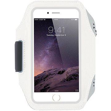 Mobilly Sportovní neoprenové pouzdro na ruku bílé - Pouzdro na mobil