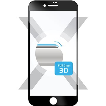 FIXED 3D Full-Cover pro Apple iPhone 7/8/SE 2020 černé - Ochranné sklo