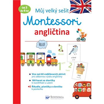 Můj velký sešit Montessori angličtina: Od 3 do 6 let