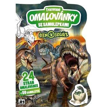 Tvarované omalovánky se samolepkami Dinosauři - Kreativní sada