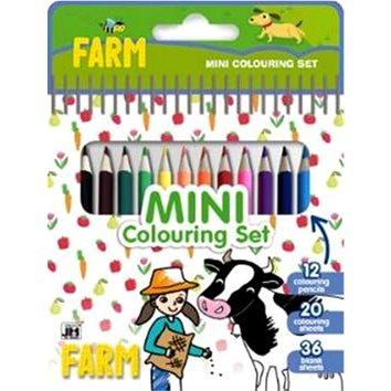 Mini blok s pastelkami Farma - Kreativní sada