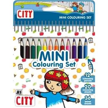 Mini blok s pastelkami Město - Kreativní sada