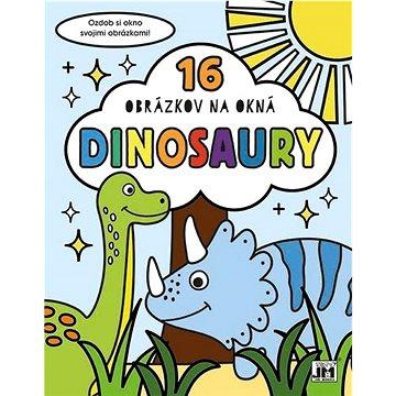 16 obrázkov na okná Dinosaury: Ozdob si okno svojimi obrázkami! - Kreativní sada