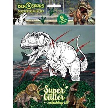 Třpytivé omalovánky Dinosauři - Kreativní sada