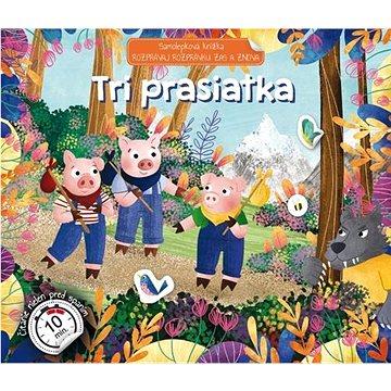 Samolepková knižka Tri prasiatka: Rozprávaj rozprávku zas a znova - Samolepka
