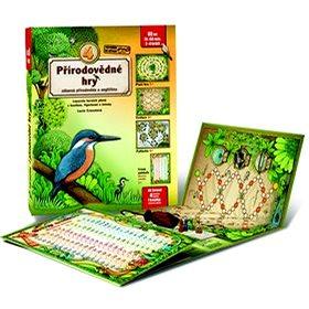 4 přírodovědné hry: Leporelo her s kostkou, figurkami a žetony, pro zábavné učení přírodopisu a angl - Kniha