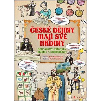 České dějiny mají své hrdiny: Obrázkové křížovky, rébusy a osmisměrky - Kniha