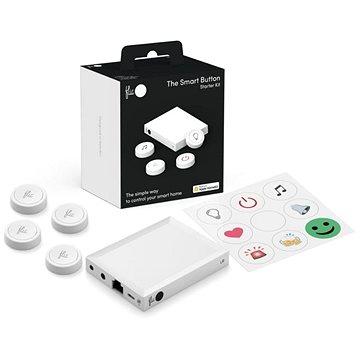 Flic 2 Starter Kit – 4x chytré Bluetooth tlačítko, Hub LR, síťový adaptér, nálepky - Detektor