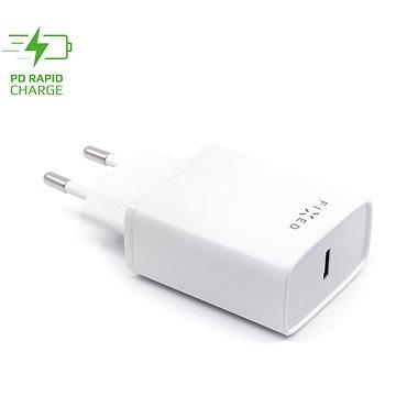FIXED Travel s USB-C výstupem a podporou PD 18W bílá - Nabíječka do sítě