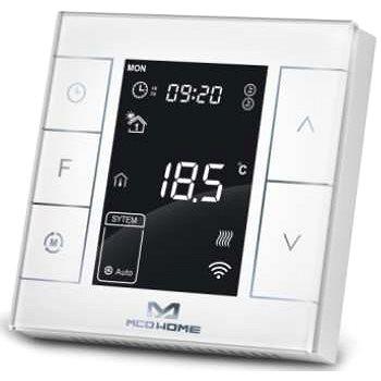 MCOHome Termostat pro vodní topení a kotle V2, Z-Wave Plus, bílý - Chytrý termostat