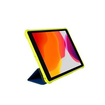 Gecko Covers pro Apple iPad (2019/2020) Super Hero děti Cover modro-zelená - Pouzdro na tablet