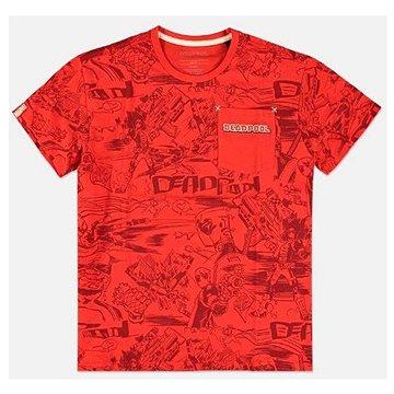 Deadpool - All Over - tričko L - Tričko