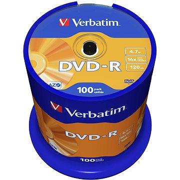 VERBATIM DVD-R AZO 4.7GB, 16x, spindle 100 ks - Média