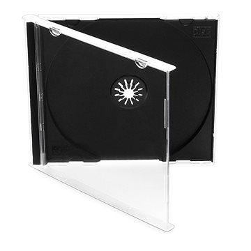 Cover IT Krabička na 1ks - černá,10ks/bal - Obal na CD/DVD