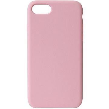 Hishell Premium Liquid Silicone pro iPhone 7 / 8 / SE 2020 růžový - Kryt na mobil