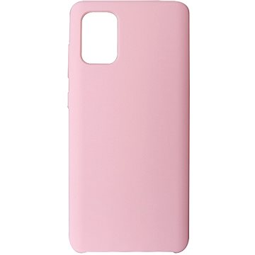 Hishell Premium Liquid Silicone pro Samsung Galaxy A71 růžový - Kryt na mobil