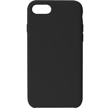 Hishell Premium Liquid Silicone pro iPhone 7 / 8 / SE 2020 černý - Kryt na mobil