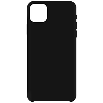Hishell Premium Liquid Silicone pro Apple iPhone 12 / 12 Pro černý - Kryt na mobil